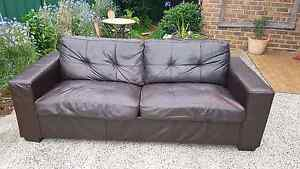 Leather Lounge, Sofa bed 3 Seater West Wollongong Wollongong Area Preview