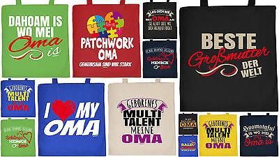 Geschenk Oma lustige Geschenkverpackung Baumwolltasche Tasche Patchwork Geburt