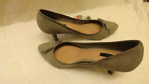 New Suede Court Shoes, Kitten Heels, Grey Colour Gordonvale Cairns City Preview