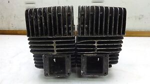 1973 Yamaha RD350 RD 350 YM253B. Engine top end 2mm over sized cylinders heads