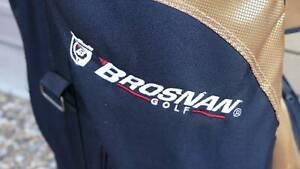 Brosnan Golf Cart Bag - Black/Gold