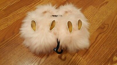 Pink Furry Bunny Slippers for Easter! ~ NWT ~ Girls size 13-1