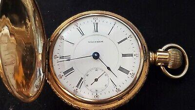 Vintage Waltham 1883 Pocket Watch 18s 15 grade 820 Engraved Hunter Case