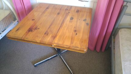Wooden table with steel table leg Bundaberg South Bundaberg City Preview