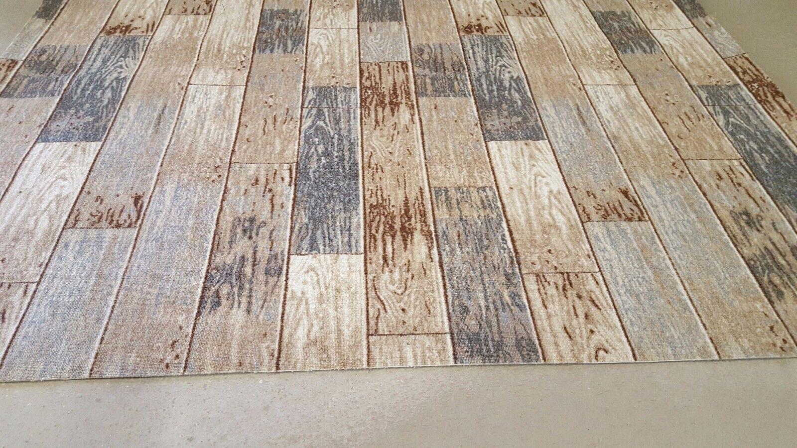 Teppichboden MUSTER Design Holz Planken Auslegware 400 cm