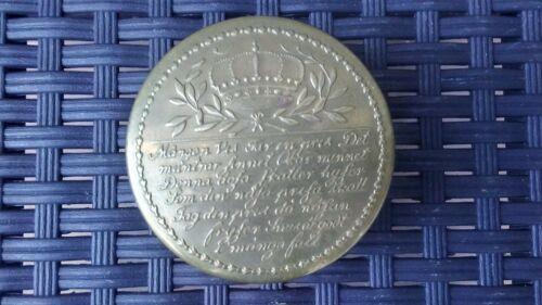 Vintage Skultuna 1607 brass Swedish Snuff can Tobacco tin coated Engraved