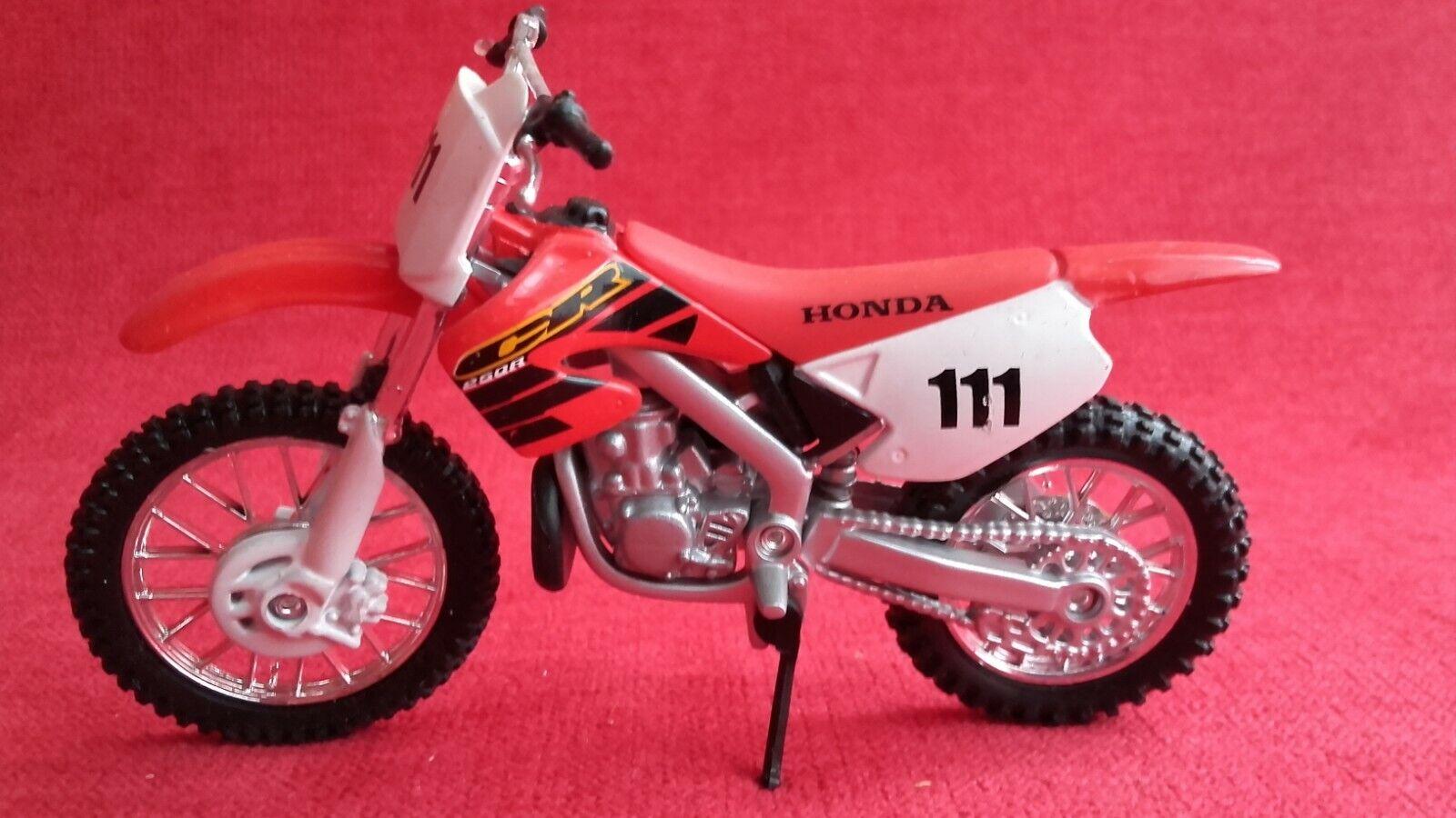 Jouet moto miniature maisto honda cr250r motocross enduro trial
