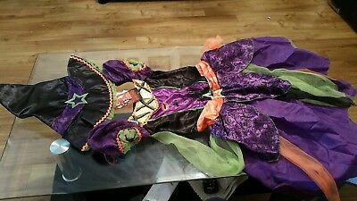 Girls witch Halloween costume size 9-10 years. Comes with a hat, brand new  - Make A Pumpkin Halloween Costume