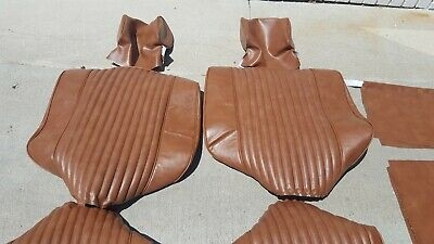 BMW E10 2002 2002tii SADDLE COLOR VINYL STANDARD SEAT UPHOLSTERY KIT NEW
