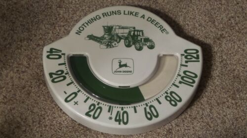 Vintage John Deere Dial Plastic Thermometer Chaney Instrument Co. Made in U.S.A.