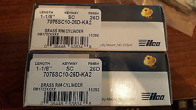 2 New Kaba Ilco Brass Rim Cylinder Sc10 Schlage 1-18 Ka2 26d Satin Chrome