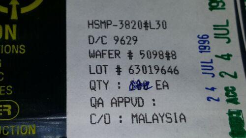 10x HP HSMP-3820#L30 , RF Pin Diode VFH UHF , 35V V(BR), Silicon , SOT-23