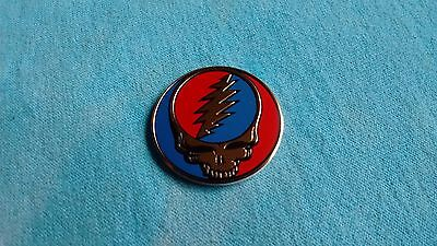 Grateful Dead Steal Your Face SYF 1.25 Inch Metal Metallic Sticker