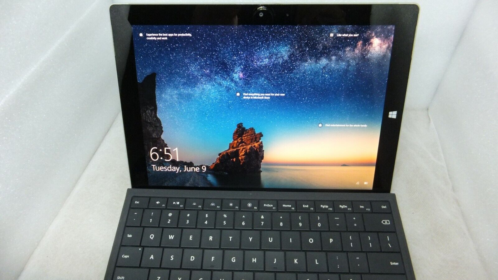 Microsoft Surface 3 - 64GB / Backlit Keyboard And Charger Included - $89.95