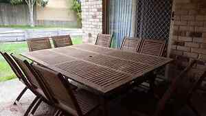 Wooden outdoor setting Arana Hills Brisbane North West Preview
