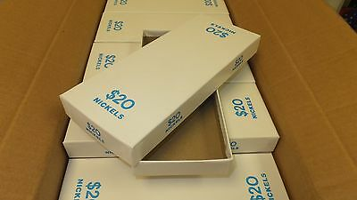 White Chipboard Boxes For Rolled Nickels 50case Holds 20 3.75 X 9.25