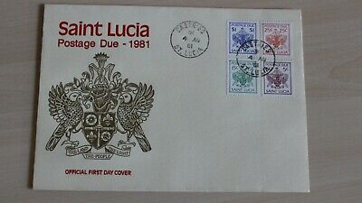 ucia  First Day Cover Postage Due 1981 (St Lucia Tag)