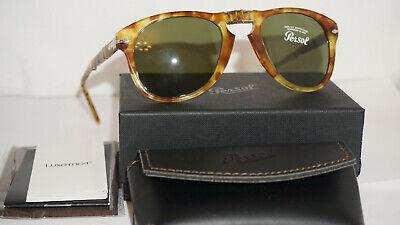 Persol Sunglasses New Mcqueen Foldable Havana Green PO0714 10614E 52 (0714 Persol)