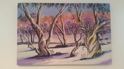 Snowy Eucalypt Canvas Print