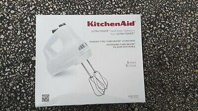KITCHENAID ULTRA POWER HAND MIXER 5 SPEED / KHM512WH/ WHITE
