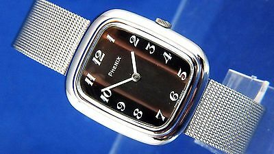 Vintage Retro Phenix Revue Mechanical Fashion Watch NOS 1970s New Old Stock