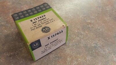 Allen Bradley X-157433 Unit Assembly X157433 1 NO-1 NC Contact Push Button Box 1
