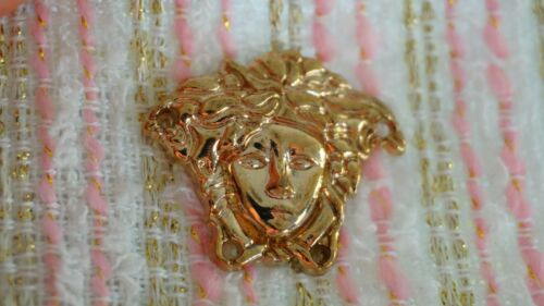 💋💅💜 100% VERSACE button 1 pieces    MEDUSA HEAD Gold Tone metal Emblem 30 mm