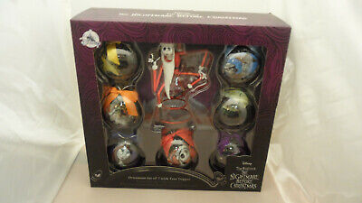 Disney The Nightmare Before Christmas Ornament Set of 7 with Tree Topper