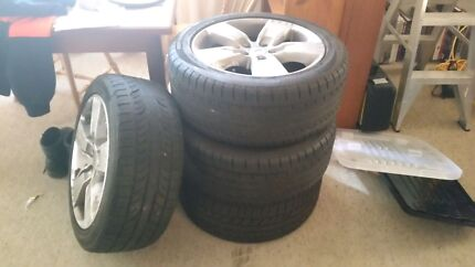 Ford wheels n tyres off a xr6 17 inch Youngtown Launceston Area Preview