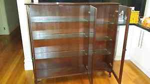 Solid Timber Display Cabinet - 3 glass doors Brunswick Moreland Area Preview