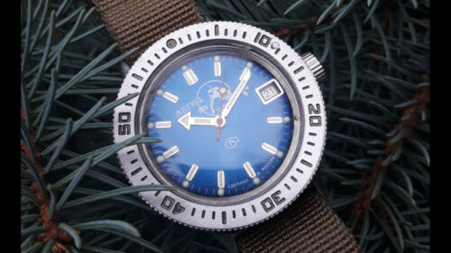 Vostok Amfibian Bezel  Brushed for all case