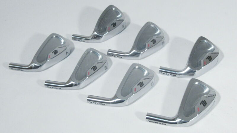 -NEW- New Level Golf 1031 Satin Chrome Forged Irons (4-PW) **HEADS** (242071)