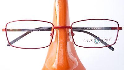 Brillengestell Brille günstig Fassung rot eckig leicht Damen Herren Metall Gr S