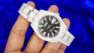 Rolex Datejust 2 41mm Oyster Steel Watch With 2100 Diamonds 26 Carats Setting