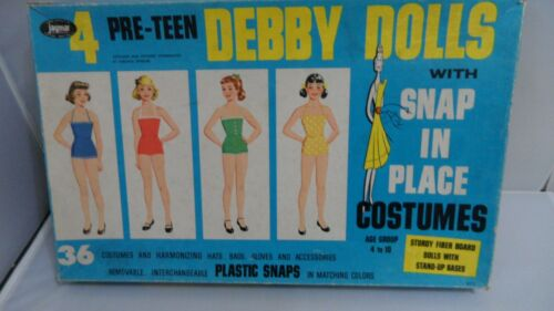 4 PRE TEEN DEBBY DOLLS W/ SNAP-IN-PLACE COSTUMES