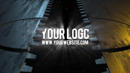 I will reveal your logo with a sci-fi space GATE door video intro