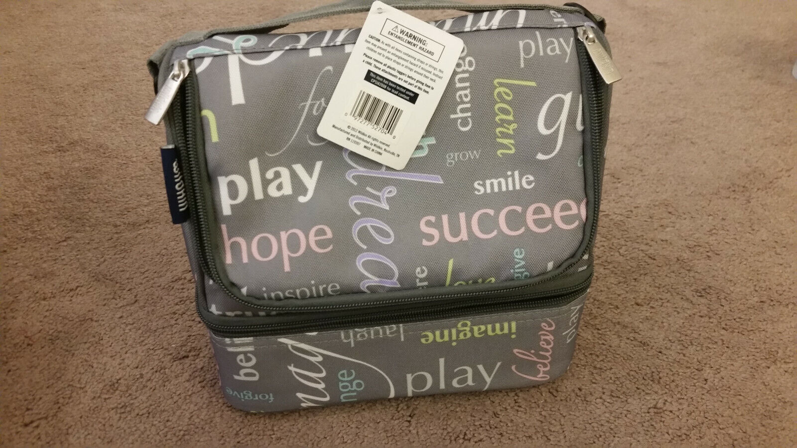 WildKin Inspirational Words Large Double Decker Lunch Bag Co