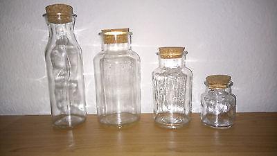 Flasche Mit Kork (Glasflasche mit Korkdeckel 4 Größen Deko und Aufbewahrung)