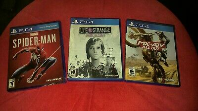 3 Games PS4 Spider-Man Life Is Strange MX Vs. ATV All Out SONY Playstation