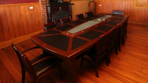 Board room table and chairs Rokewood Golden Plains Preview