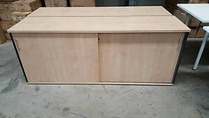 OFFICE CREDENZA WITH 2 SLIDING DOORS - work storage furniture Murarrie Brisbane South East Preview