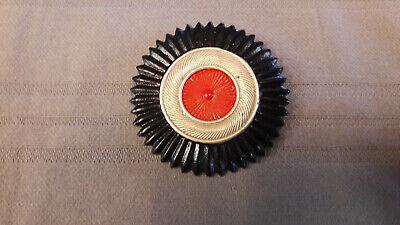 Kokarde für Südwester Hut, Metall schwarz-weiß-rot für Offizier - Weißer Offizier Hut
