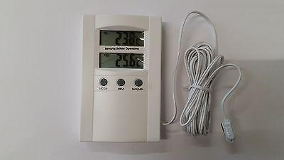 TFA Thermometer Max Min Digital Innen Außenthermometer mit Fühler TFA-8950