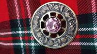 Tc Kilt Highland Fly Broche Escocés Silbato Diseño Rosa Piedra Antiguo/broche -  - ebay.es