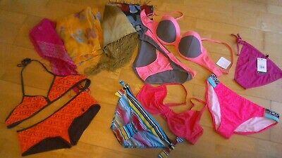 XXL Bademodenpaket ca. 30 Einzelteile Gr.38-42 ,Bikini, Tankini, 4 Tücher