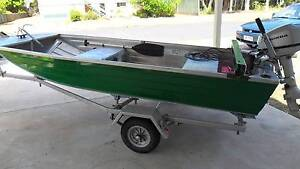 Stacer 3.4m Barra Punt with 4hp Honda Outboard - 'Kermit' Maryborough Fraser Coast Preview