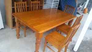 Dining table ,solid pine , 5 chairs Auchenflower Brisbane North West Preview