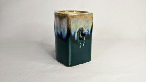 1 Rodolfo Padilla Coffee Mug Drip Glaze Pottery Stoneware Cream Blue Green