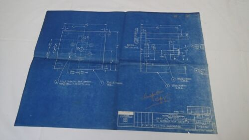 Antique Blueprint Industrial Art Detroit Automotive Ex-Cello Aircraft 1939 #8