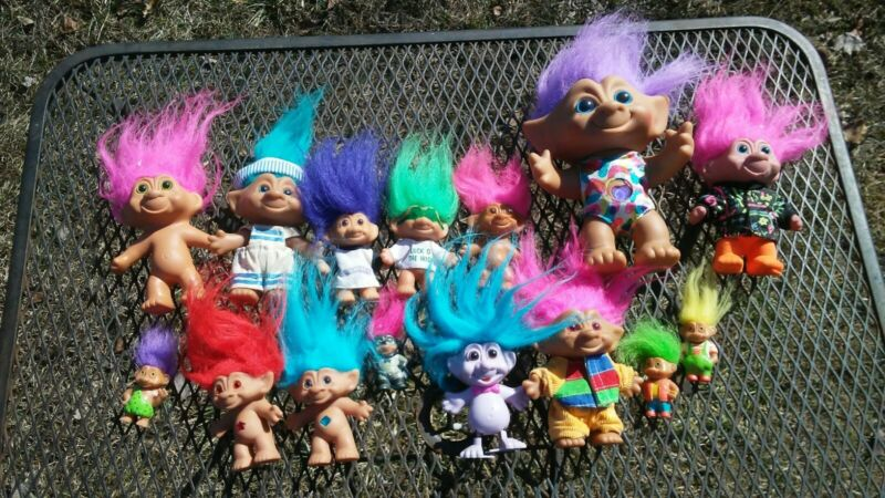 Large Lot of Troll Dolls